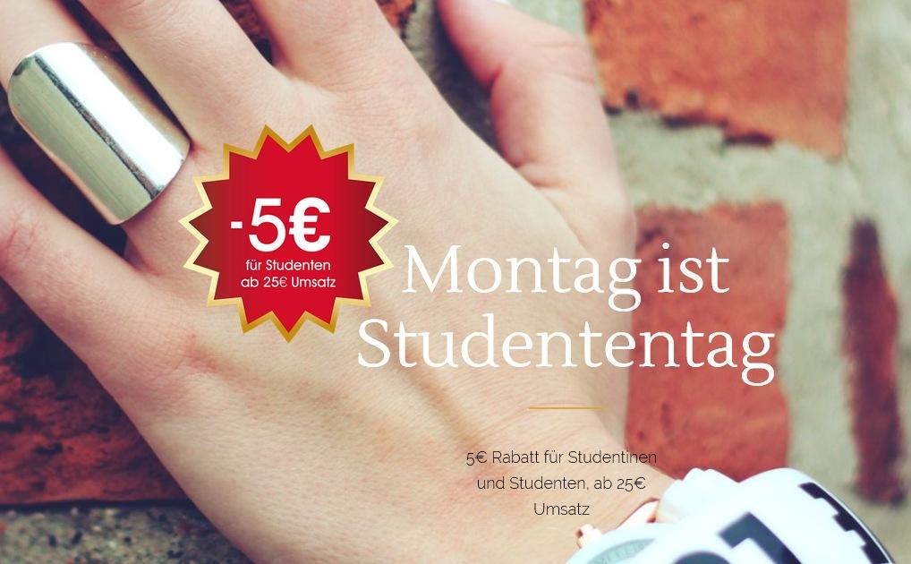 Studentenrabatt 5 Euro